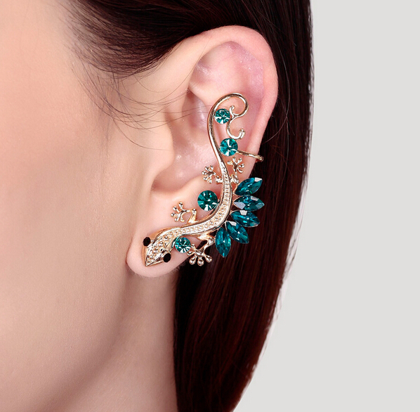 Animal Gecko lizards earrings hanging Nightclub fashion punk women girl's friendship birthday gift sapphire jewelry - Style sight store