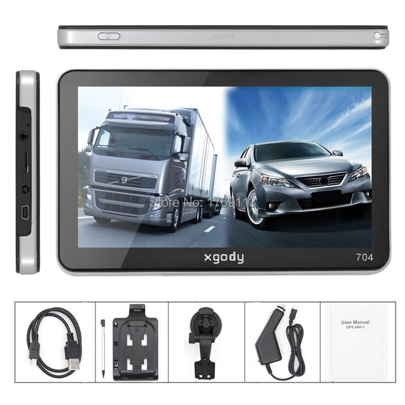 "XGODY Best 7"" TRUCK CAR GPS SAT NAV NAVIGATION SYSTEM 4GB GPS NAVIGATOR CAR UK+USA+AU FREE MAPS Update(China (Mainland))"