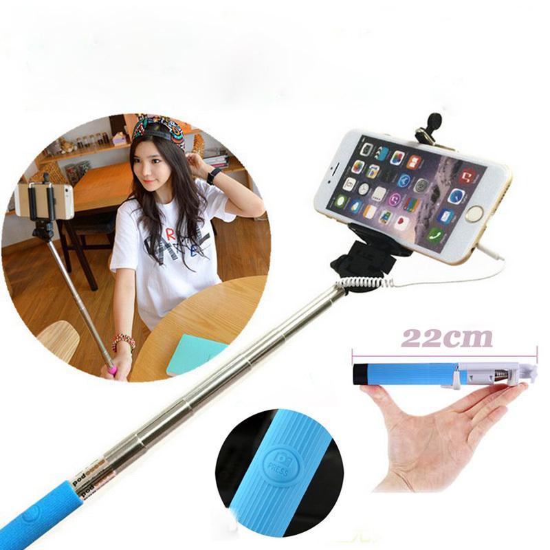 monopod wired mobile phone selfie stick aanbieding kopen lage prijs. Black Bedroom Furniture Sets. Home Design Ideas