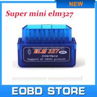 Super Mini Elm327 Bluetooth Latest Version V2.1 elm 327 Interface OBD2 / OBD II Auto Car Diagnostic Scanner