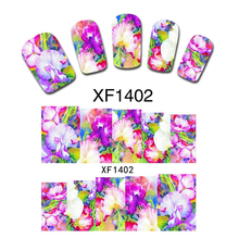 Flower Nails Art Manicure Stickers Decal Gift Water Transfer Wraps Tips Beautiful DIY