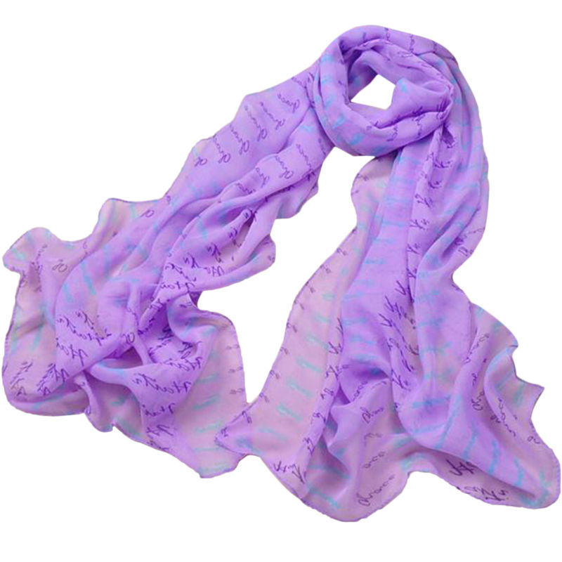 Unique Style Elegant Candy Color Letter Print Spring Summer Cool 100% Silk Scarf Neck Wrap Scarves Women - Shenzhen Sundah Tech Co., Ltd.(Craft & Gift Dept. store)