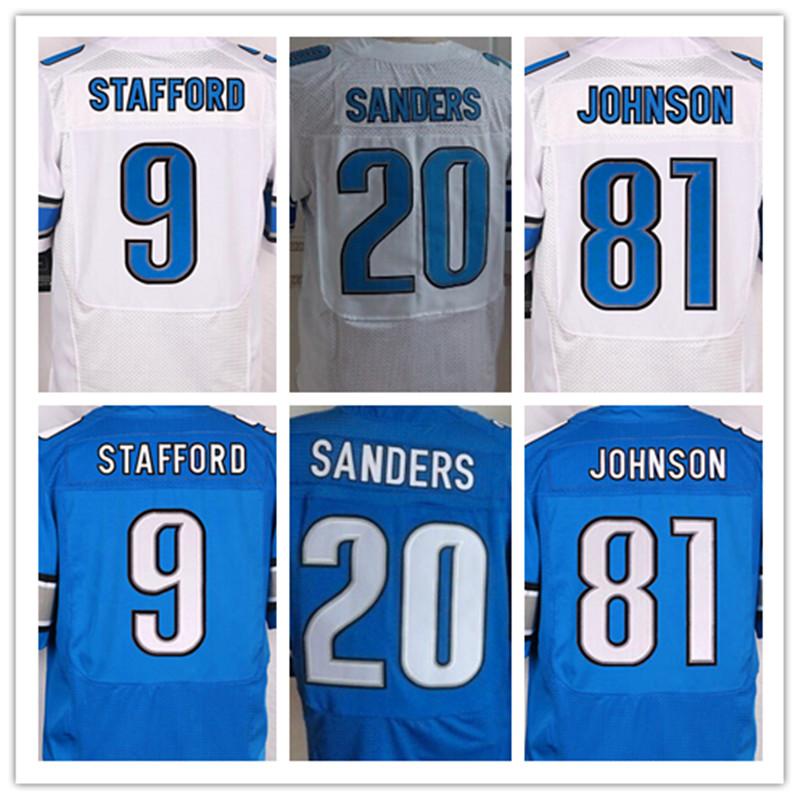 9 Matthew Stafford 20 Barry Sanders 81 Calvin Johnson(China (Mainland))