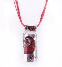 High Quality Vintage Enamel Necklaces Waxed cords Fashion Necklace Jewelry Wholesale NK0346 1