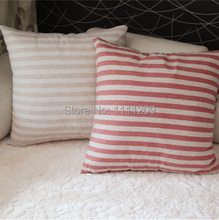 Muji style Striped cotton cushion covers