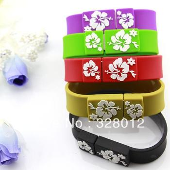 Waterproof Silicone Wristbands USB Flash Pen Drive 4GB 8GB 32GB Personalized Usb Drive Free Shipping