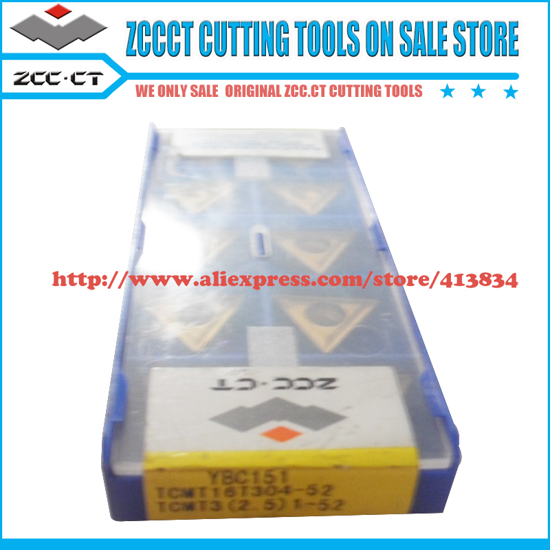 Free Shipping 40pcs/Pack Original ZCC.CT TCMT16T304-52 YBC151 Cemented Carbide Turning Insert tool part cutter of CNC tools(China (Mainland))