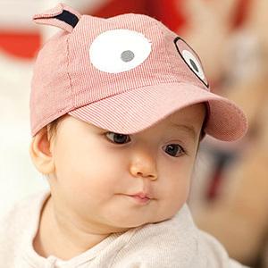 2014 new fashion fine stripe dog shaped spring and summer baby sun hats children mesh cap boys & girls sun-shading hats(China (Mainland))