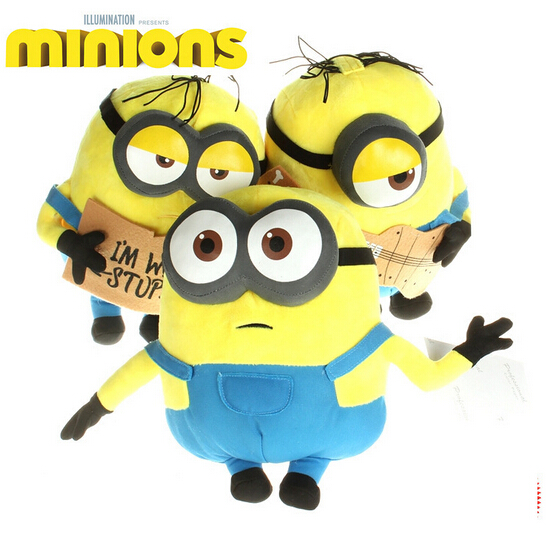 Newest 25CM Despicable me 3 Minion Doll Plush Stuffed Toys Jorge Dave minion plush For Kids Gift Guitar Unicorn 3D eye Minion(China (Mainland))
