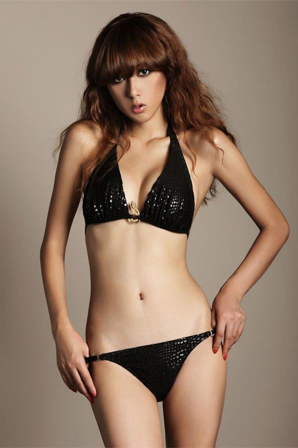 Free Shipping Fashion 2012 Ladies' Sexy Bikinis Set With Snake Accessory, Vs Bikinis Women Bra Panties Bikini Swimwear HSG226(China (Mainland))