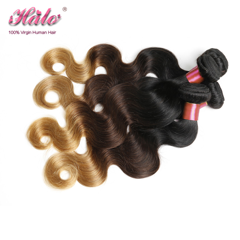 Grace Hair Products Ombre Malaysian Virgin Hair Body Wave 3pcs Colored Toned Ombre 1b 4 27 Black Blonde Human Hair Weave Bundles<br><br>Aliexpress