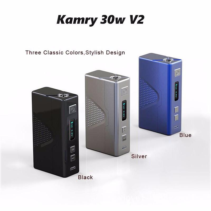 ถูก บุหรี่อิเล็กทรอนิกส์Mods 7-30วัตต์Kamry 30วัตต์V2สมัยกล่องที่มี4มิลลิลิตร0.5ohm Rebuildableเครื่องฉีดน้ำe-บุหรี่vape