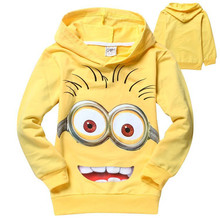 Cartoon boys clothes despicable me minion girls jacket coat new 2016 children clothing spring autumn kids outerwear sweatshirt