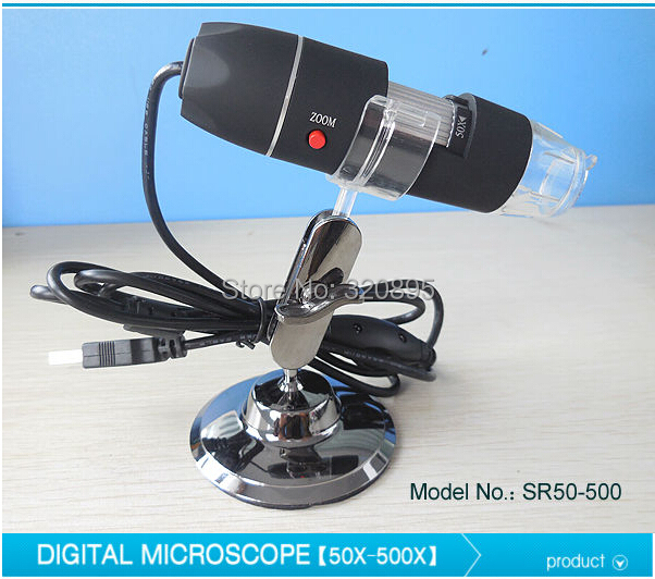 50X-500X LED Illuminated USB Pocket Digital Microscope with Stand<br><br>Aliexpress