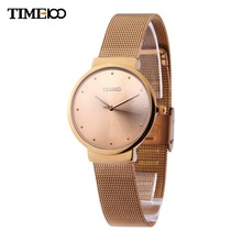 Time100 Women Quartz Watches Analog ultrathin Case Mesh Belt Strap Business Casual Wrist Watch Relogio Masculino Reloj Mujer