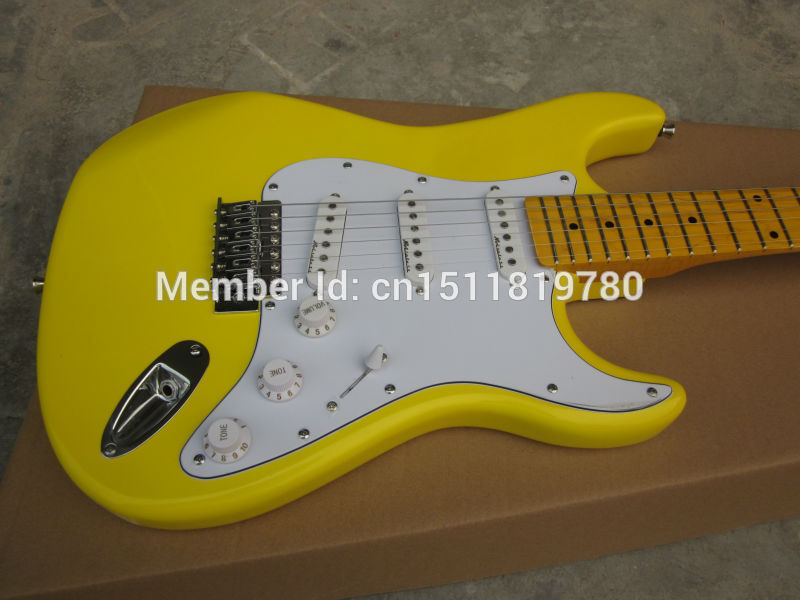 Electric guitar Free shipping Wholesale new fen st electric guitar/yellow guitar with maple neck/guitar in china(China (Mainland))