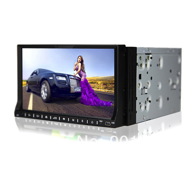 NEW Arrival 2014 din car gps dvd 7 INCH Touchscreen multilingual OSD Colorful Lights DTV Optional WinCE 60 HD 1080p BT 3G WIFI
