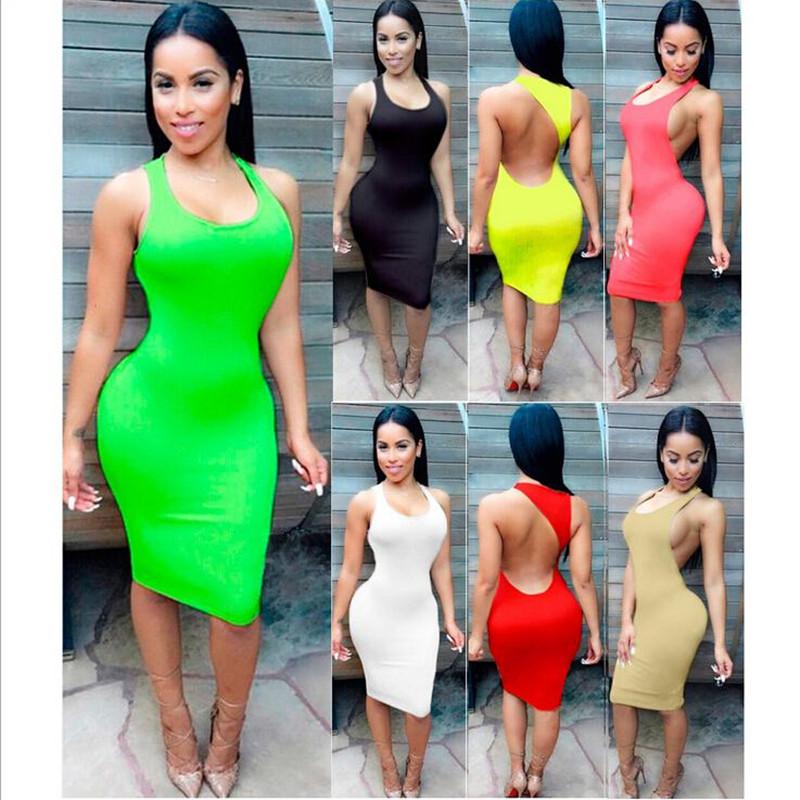 S Xxxl 7 Colors Women Summer Dresses 2016 Summer Beach