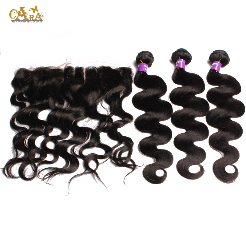 6A Body Wave Brazilian Virgin Hair With Closure 13x4 Lace Frontal Closure With Bundles Hair Weft with Closure Rosa Hair Products<br><br>Aliexpress