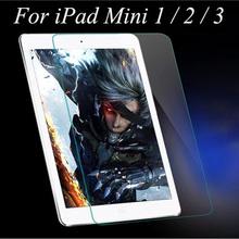 50pcs explosion proof tempered glass screen protector for apple ipad mini 1 2 3 toughend protective film for ipad mini 1/2/3