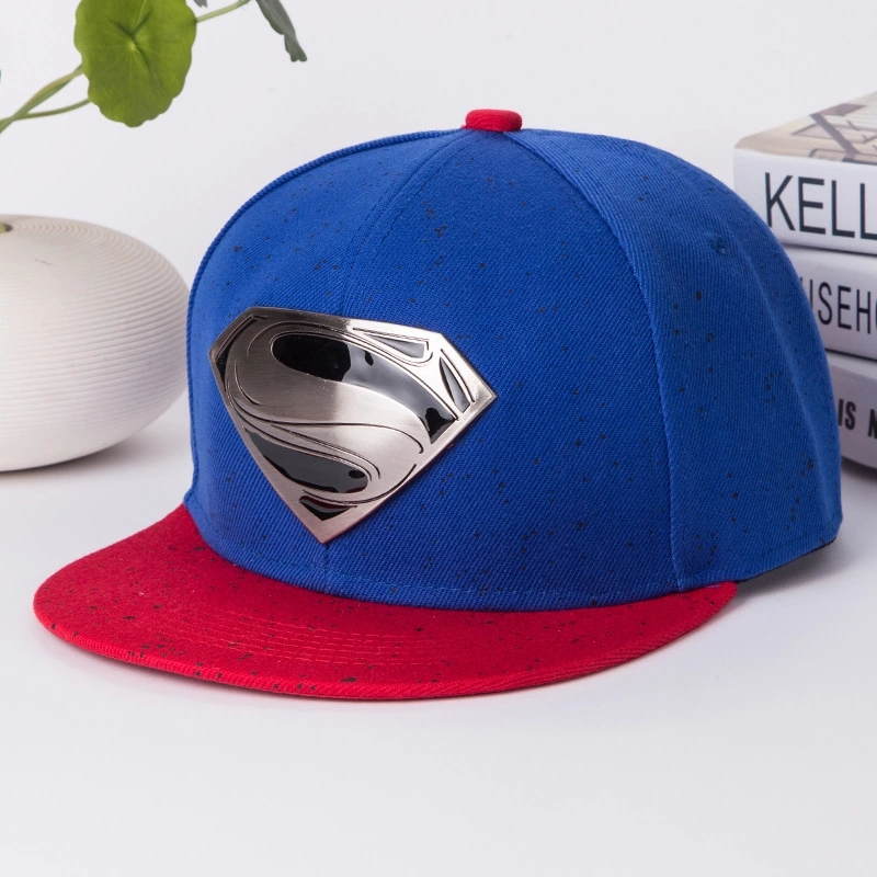 New Hot Snapback Flat Along The Hat Adjustable Superman Baseball Cap Unisex Cowboy Hip-Hop Sun Hat 6 Colors Free Shipping(China (Mainland))
