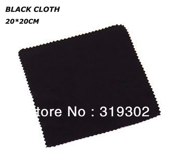 Customized logos available BLACK 20*20cm big size Microfiber cleaning cloth eye glasses sunglasses frames cleaning lens cloth(China (Mainland))