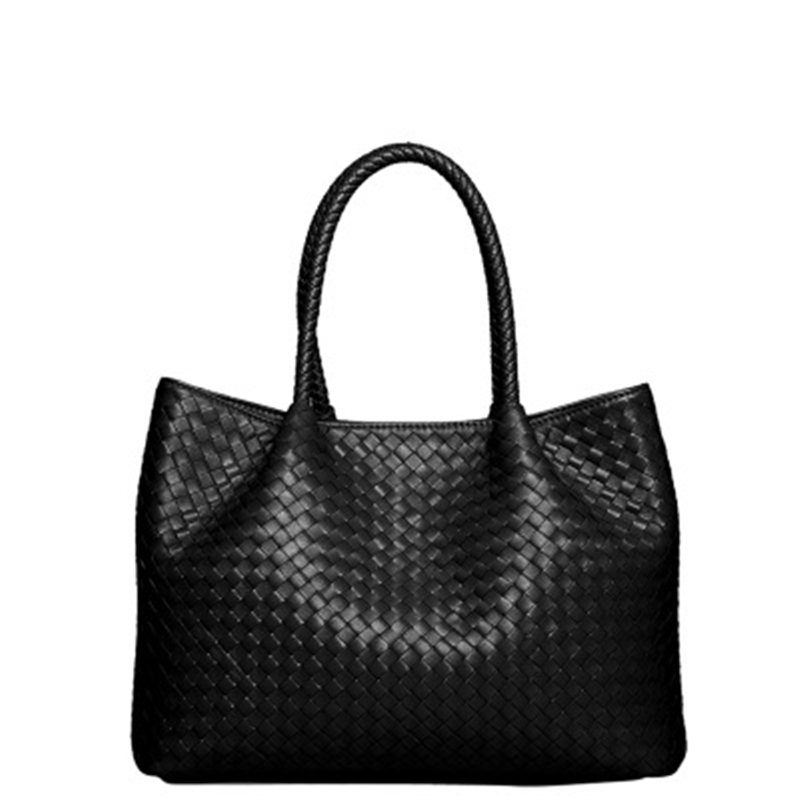 Simple Large Capacity Women Designer Handbags High Quality Genuine Leather Removable Composite Tote Bag Knitting Candy Color(China (Mainland))