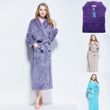 Women Thicker Winter Sleep  Lounge Soft Bathrobe Different Color(China (Mainland))