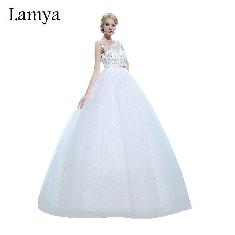 Lamya Customzied Fashionable Ball Gown Lace Wedding Dress Sexy Bride Gowns Vintage Wedding Dresses 2016 vestido de noiva(China (Mainland))