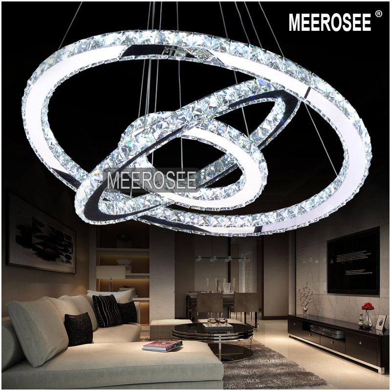Best selling led crystal ring chandelier lamp light for Replica leuchten