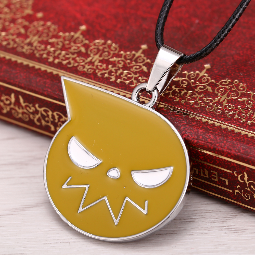 Free shipping2015 New Anime Soul eater Necklace alloy logo Pendants & Necklace Rope chain for men jewelry(China (Mainland))