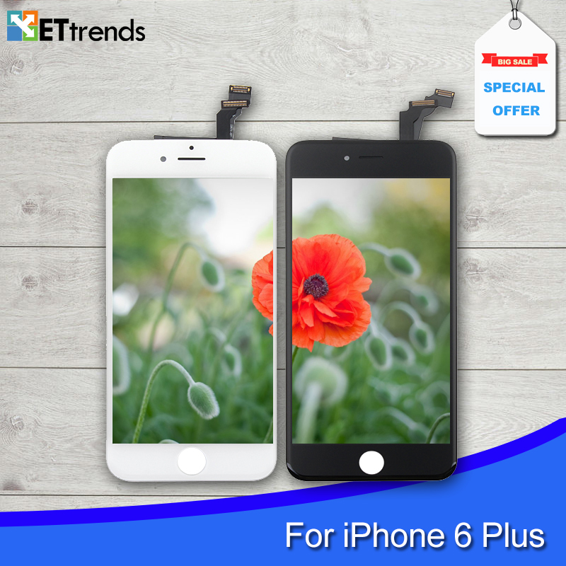 Фотография 5PCS/LOT No dead pixel LCD display for iPhone 6 Plus 5.5 LCD Screen digitizer Assembly with Digitizer White Black DHL Free Ship