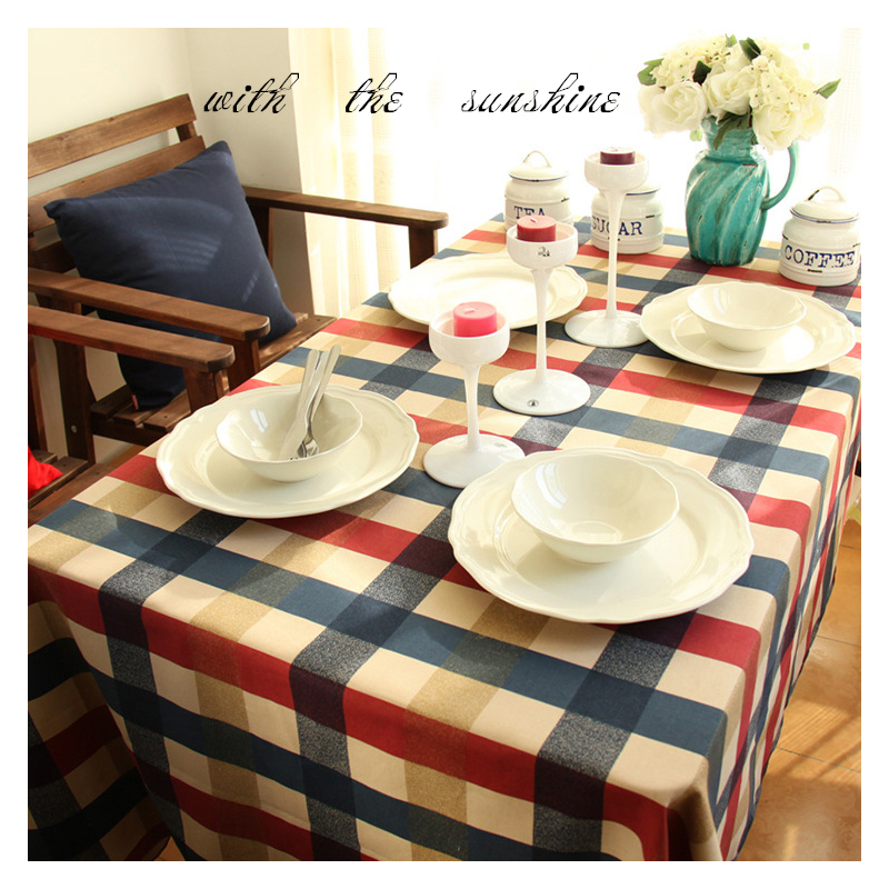 Plaid Table Cloth Cotton Linen Round Tablecloth Square Rectangular Crochet Dinner Table Cover Nappe De Table 55*86 Inch 2016 New(China (Mainland))