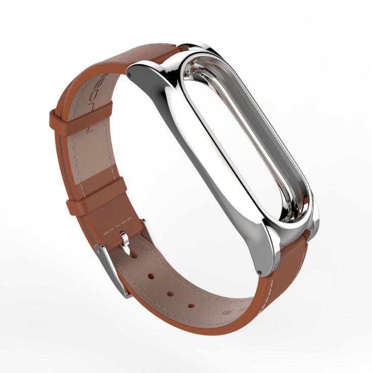 image for 2017 New Mijobs Leather Strap For Xiaomi Mi Band 2 Wrist Straps Screwl