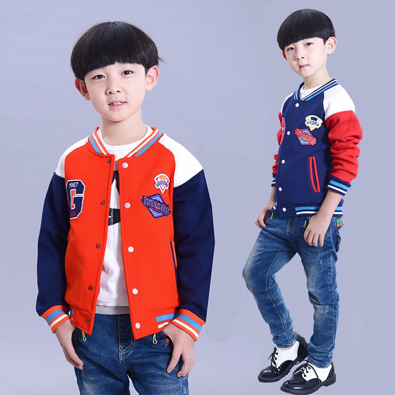 New 2015 children's spring and autumn clothing coats boys baseball uniform male child jacket patchwork big kids brand coats(China (Mainland))