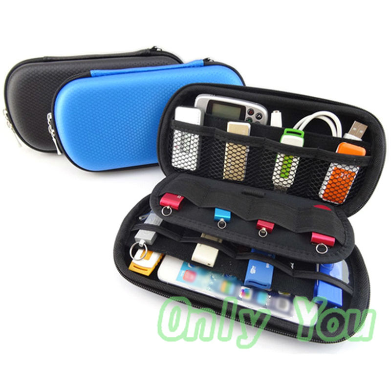 Portable Storage Carrying Shockproof Case Zipper Protection Bag Box for Battery Power Bank Data Cable Mobile Phone etc(China (Mainland))