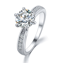 Buy High Rings Women Wedding Jewelry Shinny Cubic Zirconia Inlayed Engagement Rings Bijoux Lady Bagues anillos PT32 for $1.34 in AliExpress store