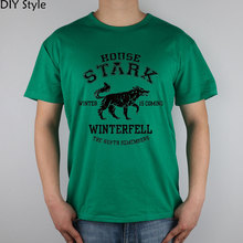 Buy Jy House Stark Game Thrones T-shirt Top Lycra Cotton Diy Hiking T-shirts Brand Men Green Color T Shirt High for $14.85 in AliExpress store