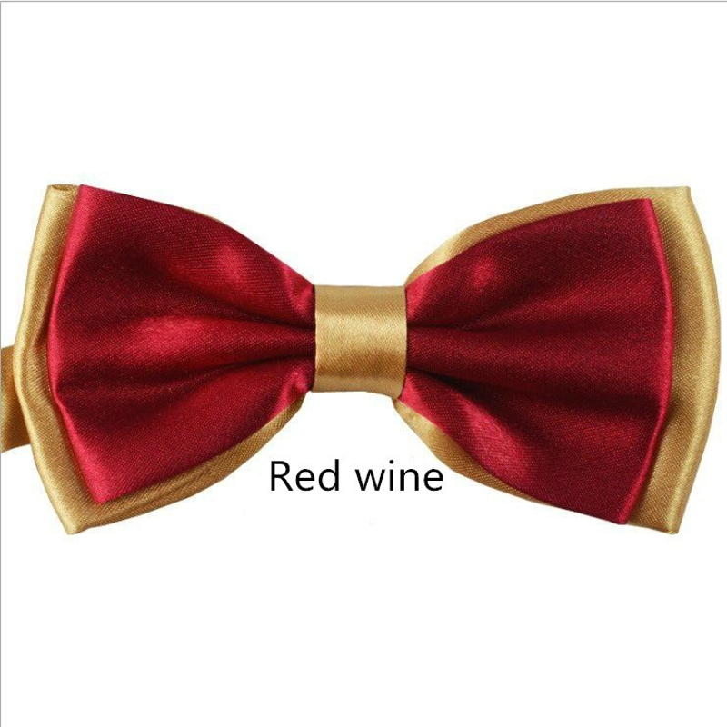 2016 High Quality Bow Tie Gentleman Trendy Double Neck Ties Knots Cravat Party or Men's Married Bowties Female Neckwear Papillon(China (Mainland))