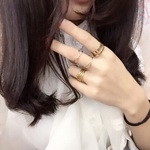 Gold jewelry Knuckle midi punk stackable rings for women bague ring finger rings anel September bijoux