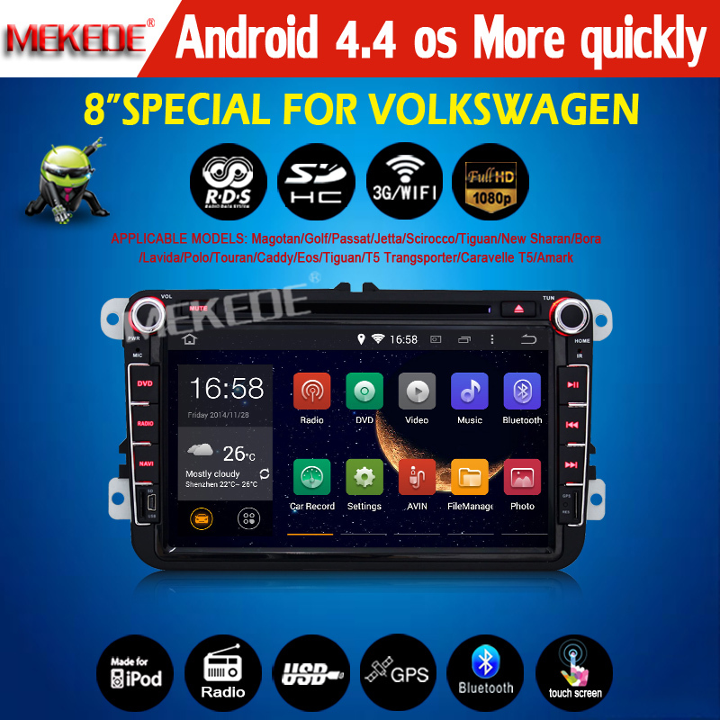 2014 new latest Pure Android 4.4 system Car dvd autoradio player for vw volkswagen passat golf 5 6 with wifi radio 1080p video()