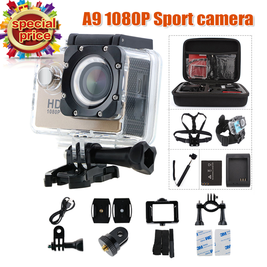 action camera A9 1080P sport cam Full camaras deportivas HD waterproof go pro hero 3 Outdoor Mini camcorders Video Camera