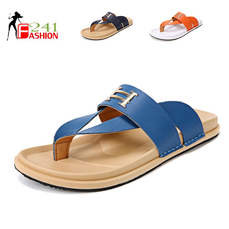 2015 Summer Style Leisure Men Outdoor Chanclas Shoes Fashion 3 Colors Flip Flops Beach Sandals
