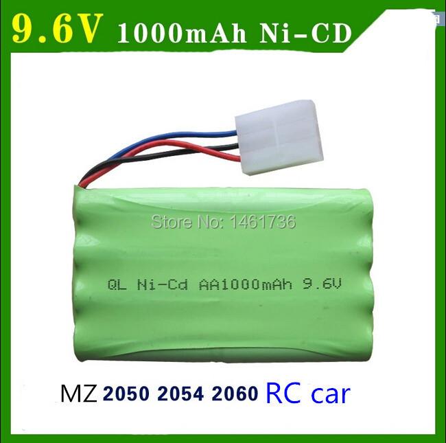 Free shipping MZ 2050 2054 2060 Remote Control Model Cars spare battery NI-CD AA 9.6V 1000mAh battery(China (Mainland))