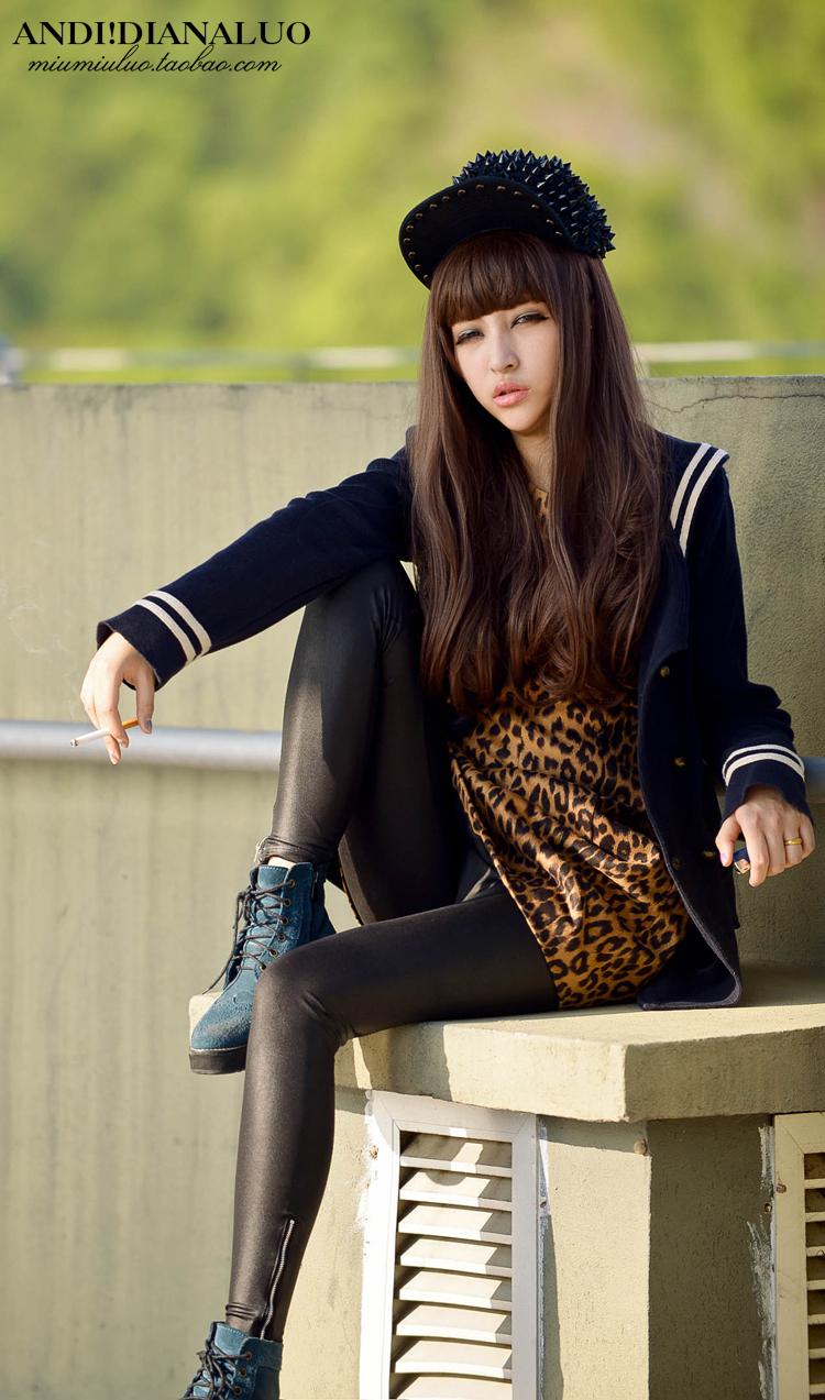 Free Shipping 2013 women japanese long hair qi bangs brown ...