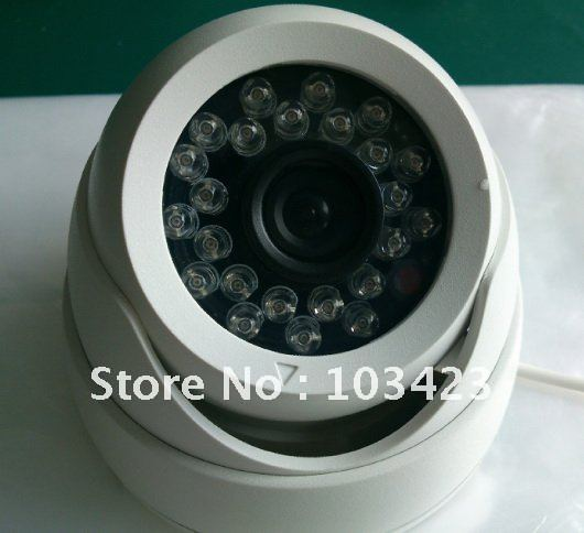 "600 TV Line CCTV Camera, 1/3"" CMOS Board with IR-Cutter,3.6mm Lens, 24IR Light Board"