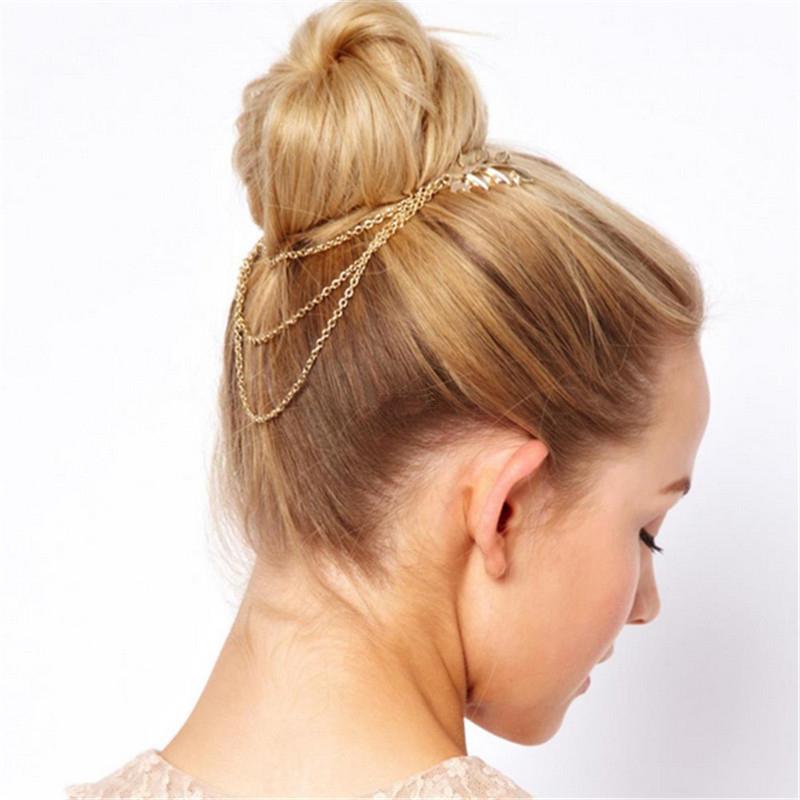 Распродажа 1 шт. модная металлическая цепочка с кисточками повязка на голову AASeller