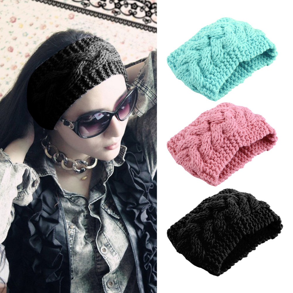 Women Head Wrap Ear Warmer Hair Accessories Hair Band Girl Knitted Turban Winter Warm New Hot Selling(China (Mainland))