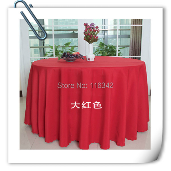 "Wholesale polyester 10pcs 90"" Round Tablecloth Wedding Party Banquet Table Decorations Table Cloths Free Shipping(China (Mainland))"