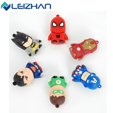 Classic Heroes Superman Spiderman Batman USB Flash Drive 4GB 8GB 16GB 32GB pen drive memory stick Flash card(China (Mainland))